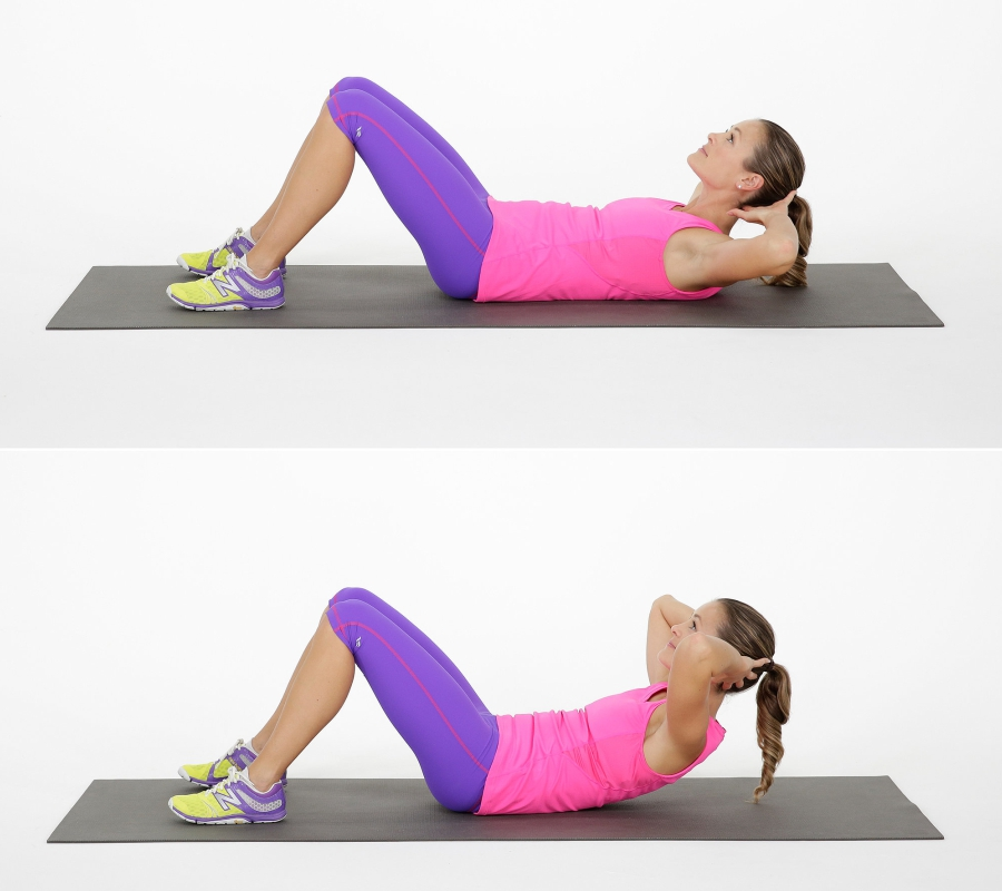 Effective Exercise to lose Belly Fat for Women- Crunches
