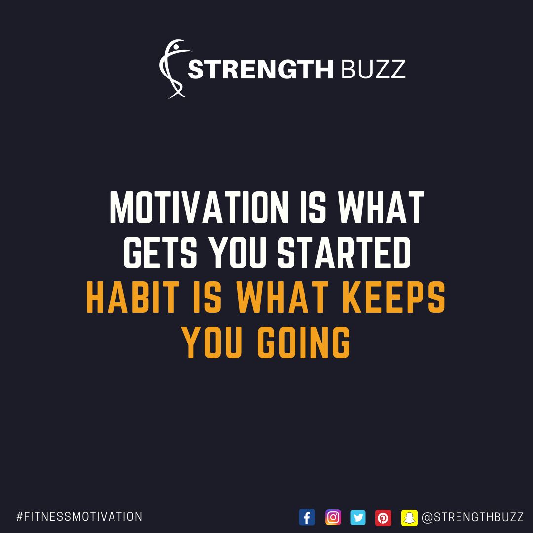 Motivational Fitness Quotes - Motivation is what gets you started. Habit is what keeps you going