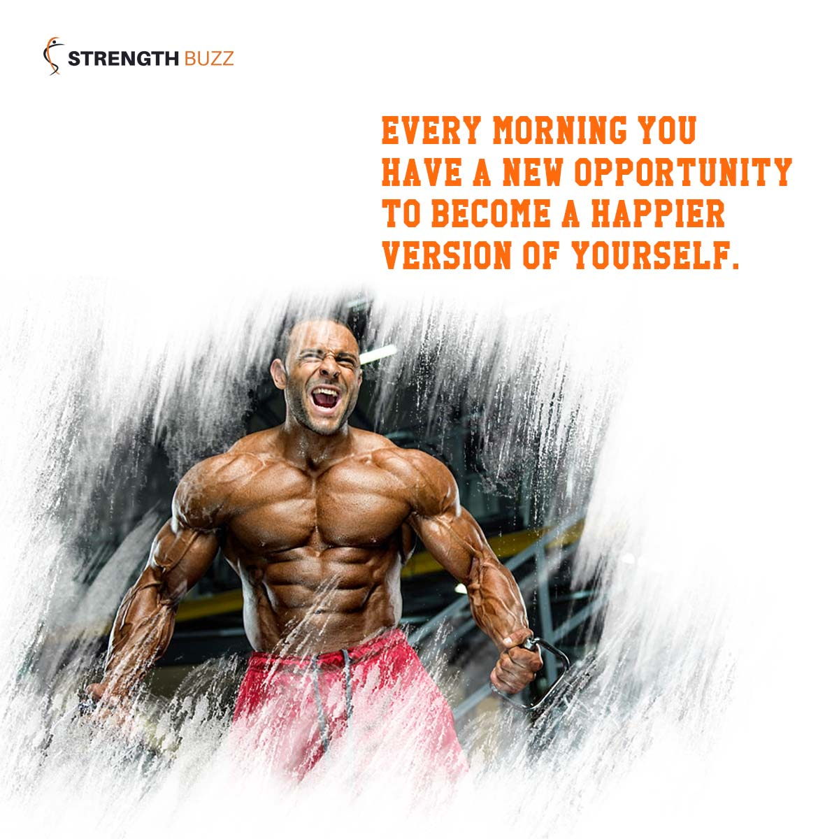 Gym Motivation Quotes - Every morning you have a new opportunity to become a happier version of yourself