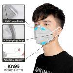 Adult Vertical Folding Dust Filter Face Mask
